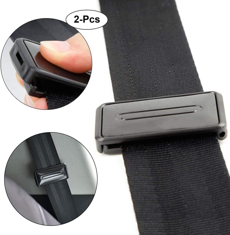 2pcs Car Seat Belt Adjuster Clips Auto Buckle Strap Stopper Clamps Safe Comfort