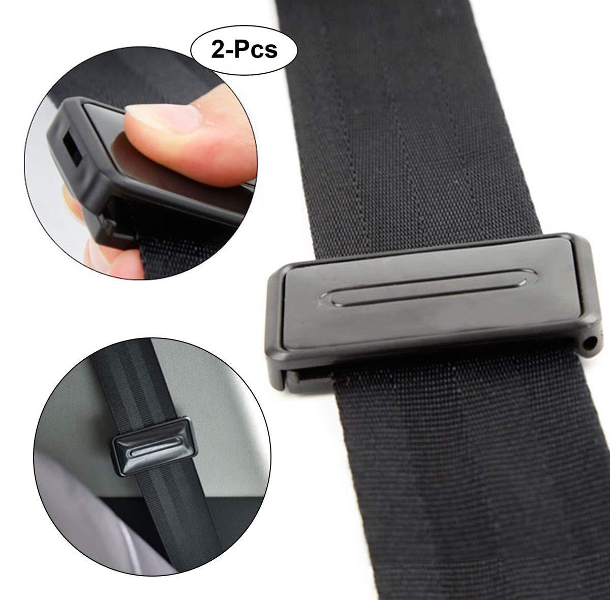 Car Seat Belt Adjuster, Seatbelt Clips | Smart Adjust Seat Belts to Relax Shoulder Neck Give You a Comfortable and Safe Experience | 2PCS Black