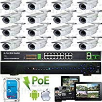 USG Sony DSP 16 Camera 1080P HD IP PoE CCTV Kit * Motorized Lens Zoom + Auto-Focus Cameras * 1x 24 Channel NVR + 16x 1080P 2.8-12mm PoE IP Bullet Cameras + 1x 4TB HDD + 1x 18 Port PoE Network Switch