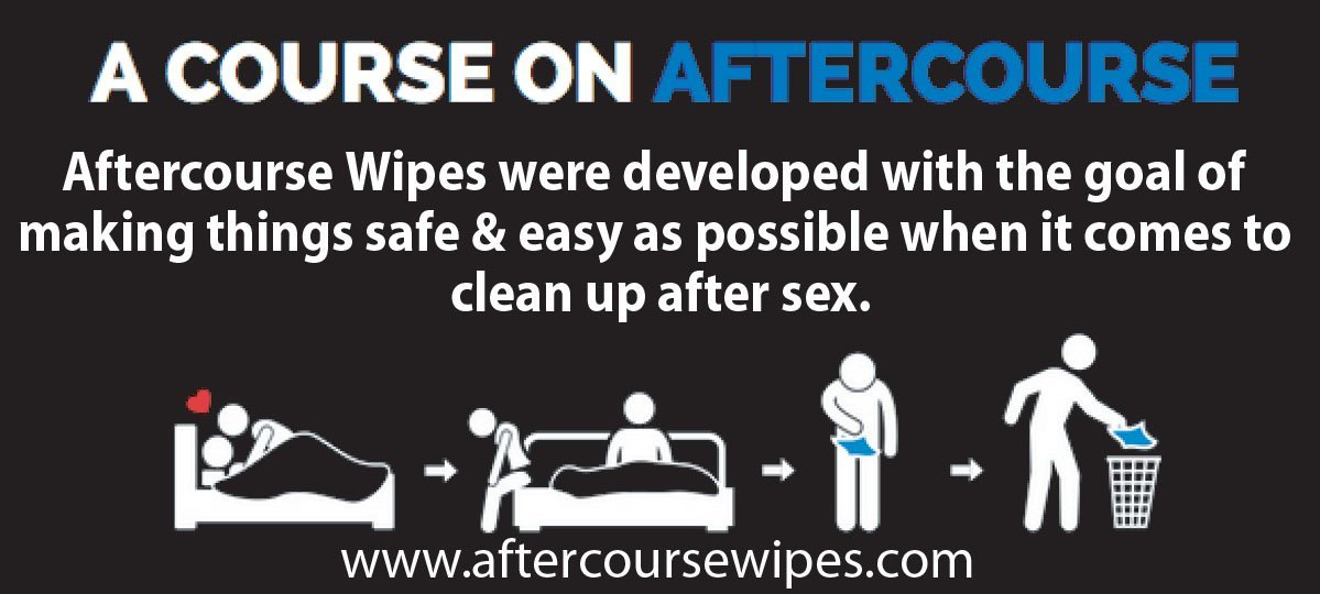 AfterCourse Wipes - Post-Intercourse, Natural, Flushable Wipes - Infused with Essential Oils - Pack of 69 Wipes