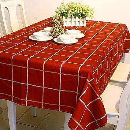 Plaid Funda Para Mesa Rectangular Mantel De Tela Para Catering - Tela-para-manteles-de-mesa