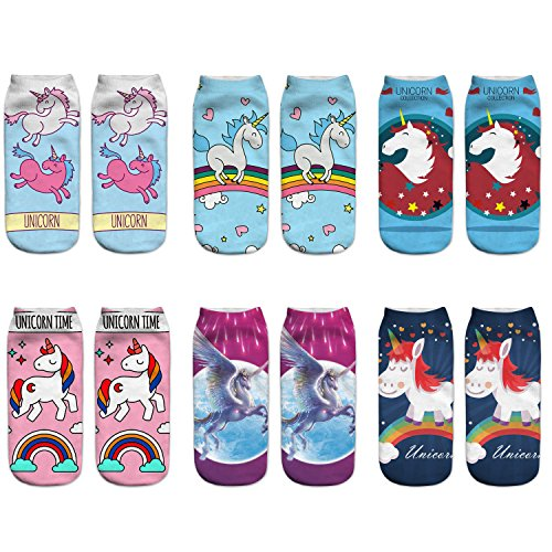 Ladies Womens Cartoon Unicorn Novelty
