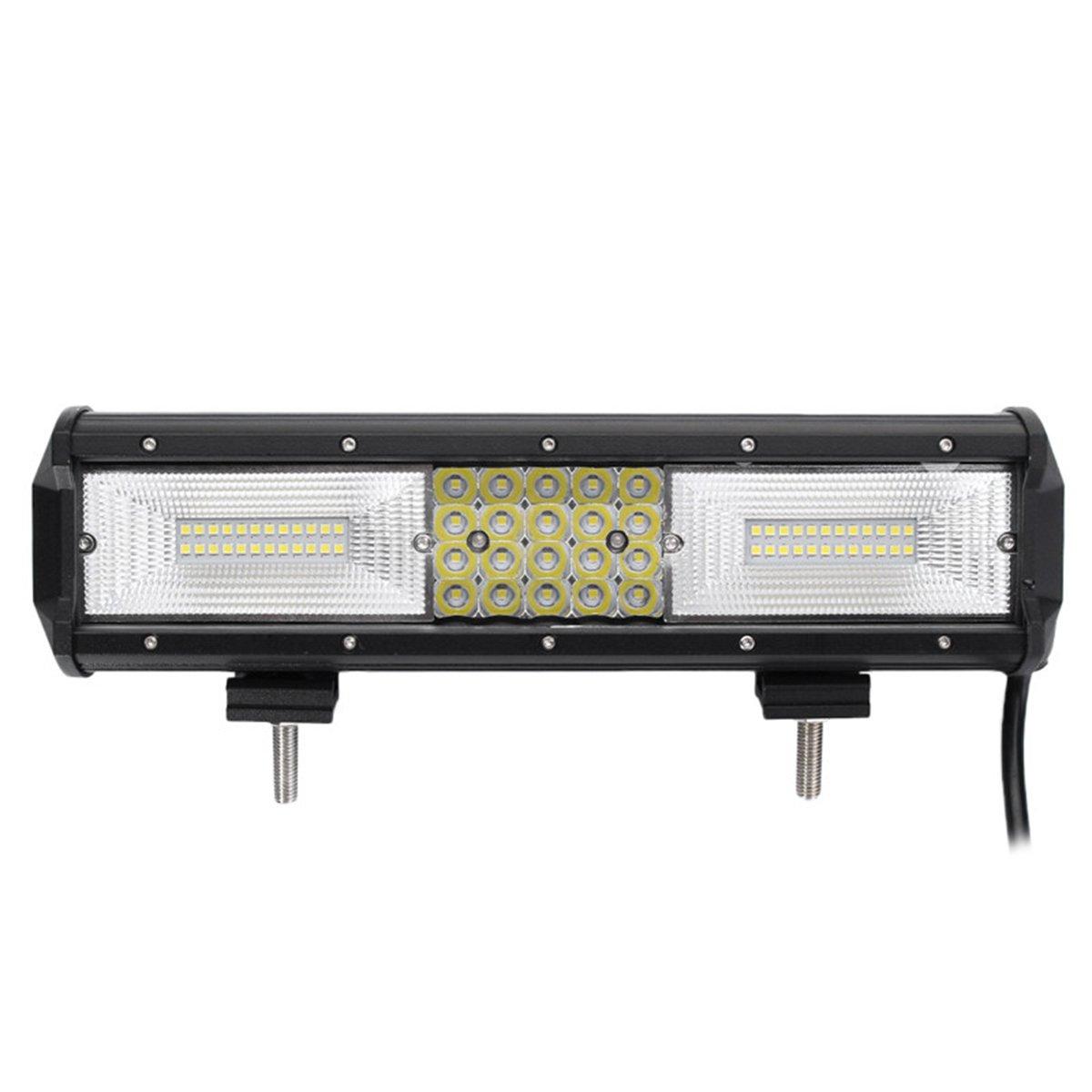 VORCOOL 12 pollici 130200LM 68 LED 10-30V 840W Light Bar fuoristrada guida fendinebbia impermeabile lavoro leggero per Van Camper Wagon ATV SUV (nero) 4VJ3314X9L8J14BKS0XTS0