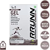 Unived Rrunn Endurance Energy Gel - 39 g (Pack of 6, Espresso Cappuccino)