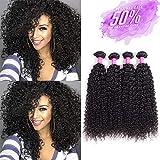 Brazilian Virgin Curly Hair Weave 4 Bundles 7A 100% Unprocessed Human Hair Extensions Natural Color by Lovenea(8 8 8 8)
