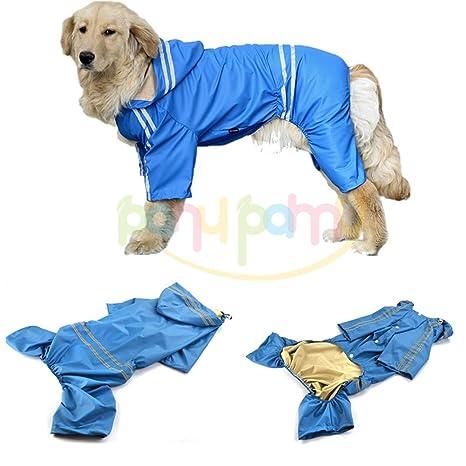 Chubasquero Chaqueta Abrigo Impermeable para Mascotas Perro Impermeables Chubasqueros para Medianas y Grandes Perros - Impermeable