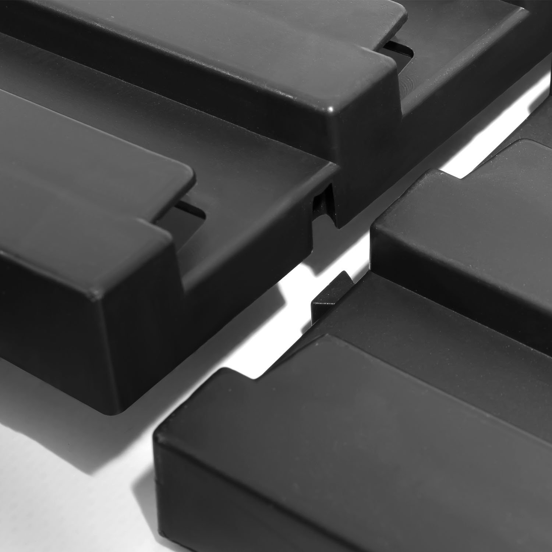 nero colore Set 6 pannelli per officina Patrol in plastica montabile a muro misure 34,5 x 38,5 cm