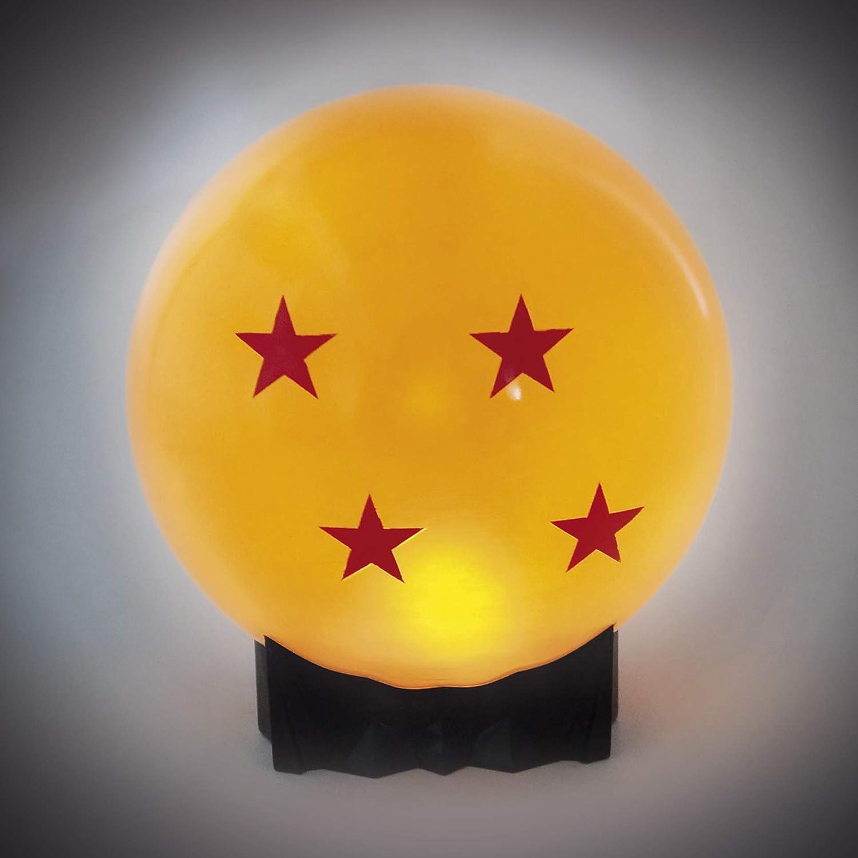 Dragon Ball Z Maxi Noche Crystal Light bola l/ámpara naranja de 4 estrellas con un cable USB