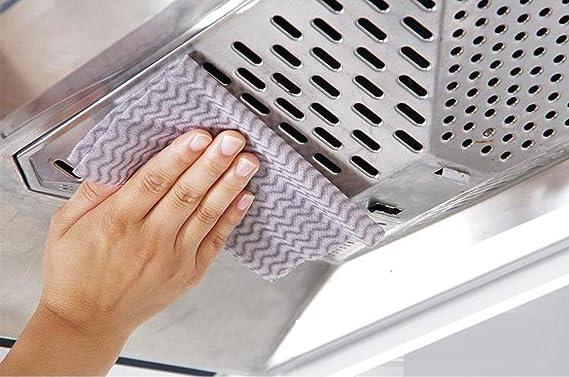 Toalla de limpieza desechable (2 rollos/100 unidades), toallas de papel, ragas desechables, toallas de plato, cocina, sin aceite, absorbente, toalla de limpieza, paño de plato, estropajo. MU-HP022: Amazon.es: Hogar