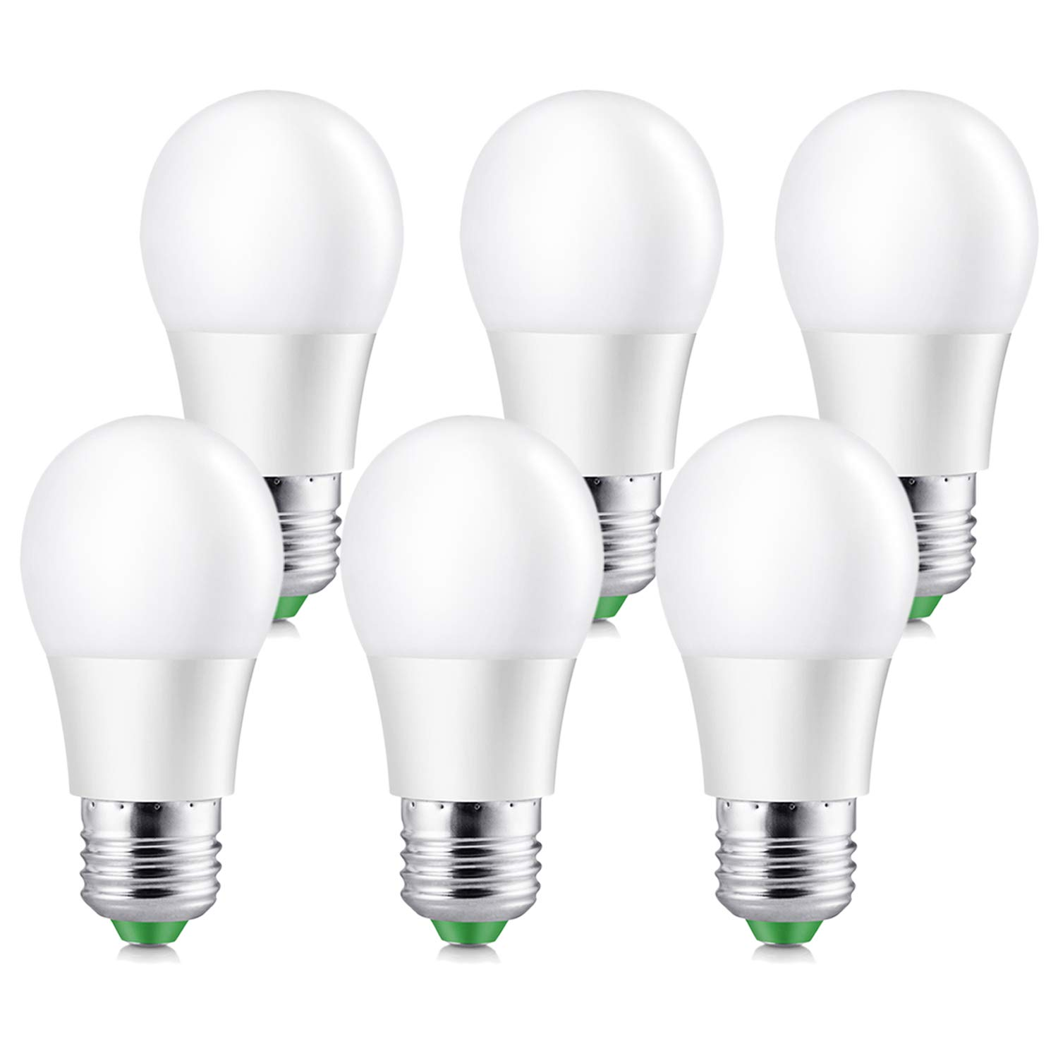 Elrigs A15 LED Bulb, 5W (40 Watt Equivalent), Warm White (3000K), E26 Base, Work with 110V/220V, Non-Dimmable, 450lm, Pack of 6