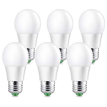Elrigs Bombilla LED 5W (equivalente a 40W), casquillo E27, luz blanca fría (6000K), ángulo de iluminación de 230°, 450lm, pack de 6 unidades: Amazon.es: ...
