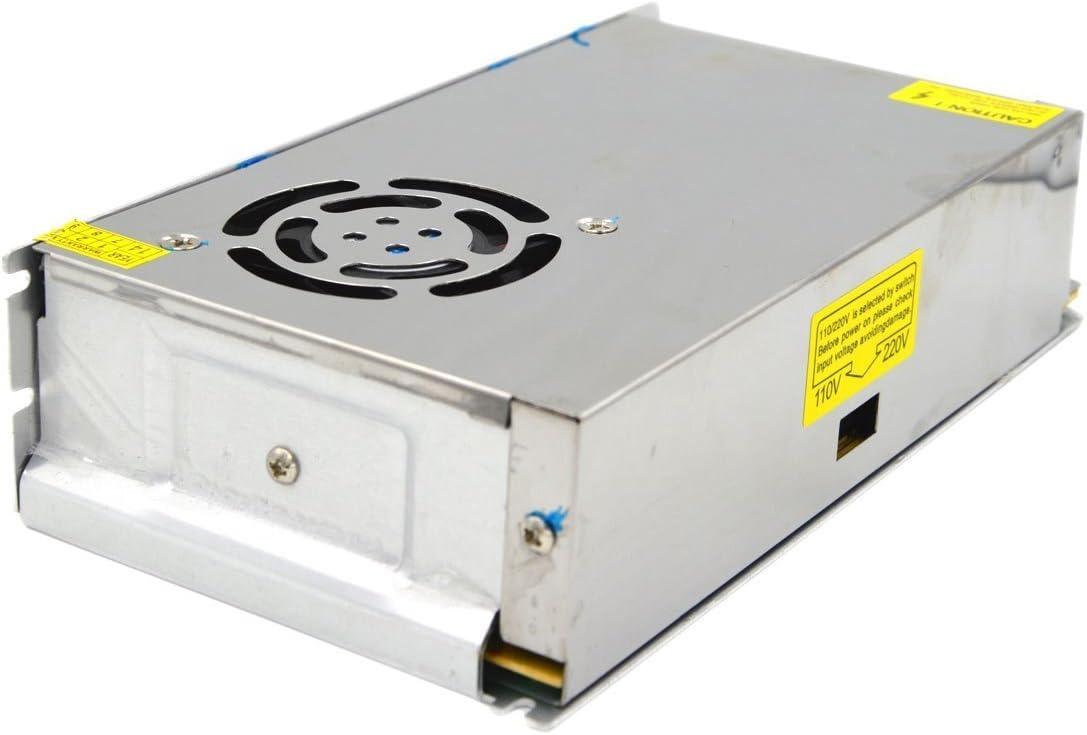 RPS Transformador de Fuente alimentación de Voltage con Interruptor de AC 110V / 220V a 12V para Tira de LED, cámara de Video de vigilancia, Monitor de Seguridad y más CC 30A 360W