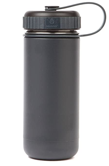 7a50db35e2 Manna Ranger 18 oz Vacuum Insulated Stainless Steel Wide Mouth Sports Water  Bottle With Flex Cap