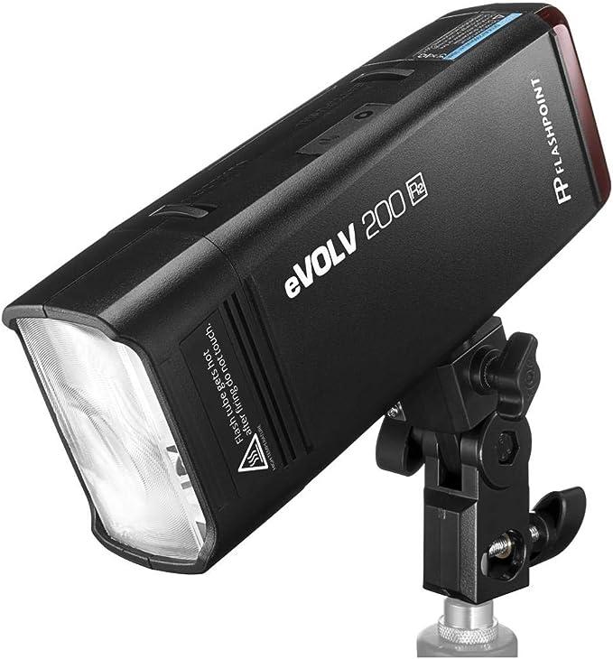 AD200 Pro Glow EZ Lock Deep Parabolic Quick Softbox + Glow Handheld Grip S-Type Bracket Bowens Mount Holder for Speedlite Flash Softbox 38in Flashpoint eVOLV 200 Pro TTL Pocket Flash Kit