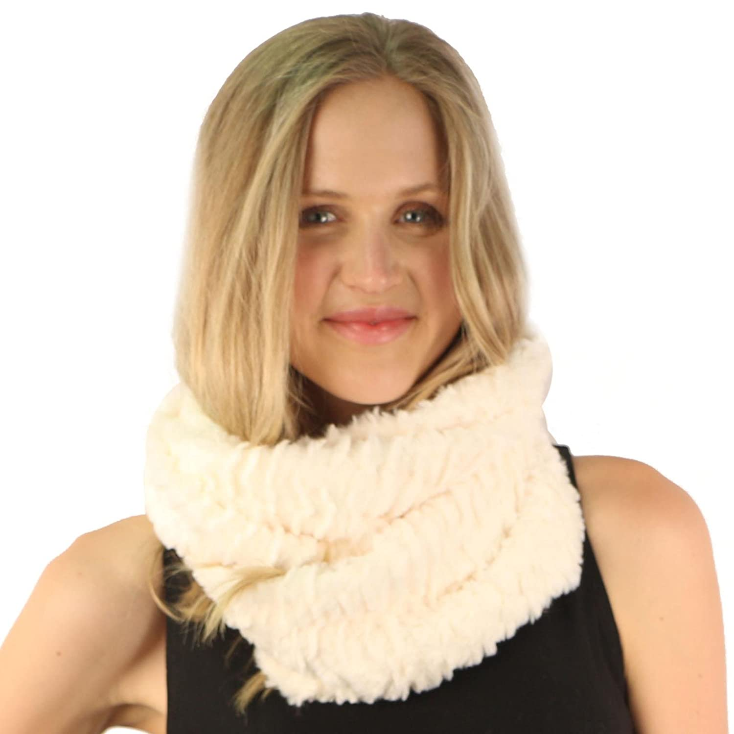 Winter Super Soft Winter Pretty Faux Fur Furry Fuzzy Scarf ...