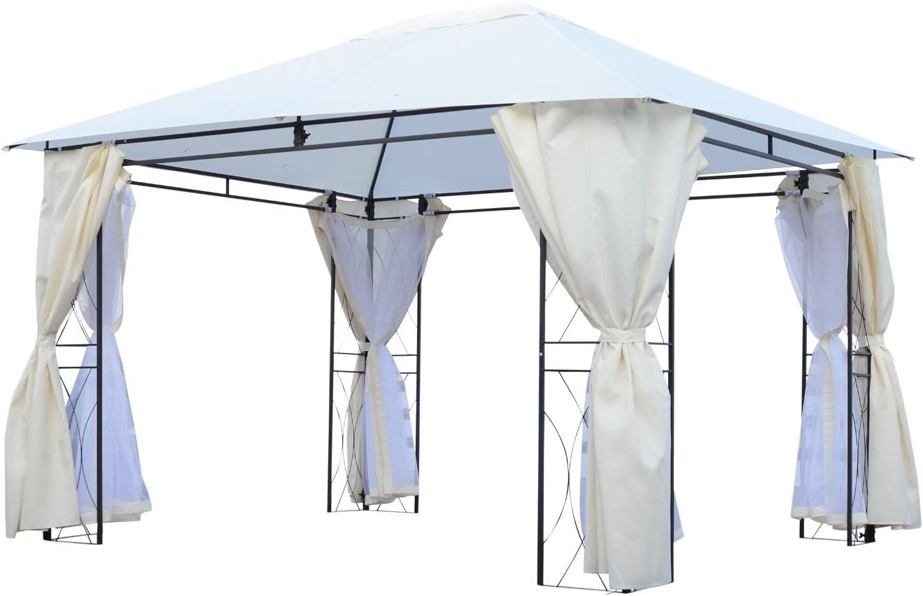 Outsunny – Carpa de jardín Pérgola para Exterior con mosquitera ...