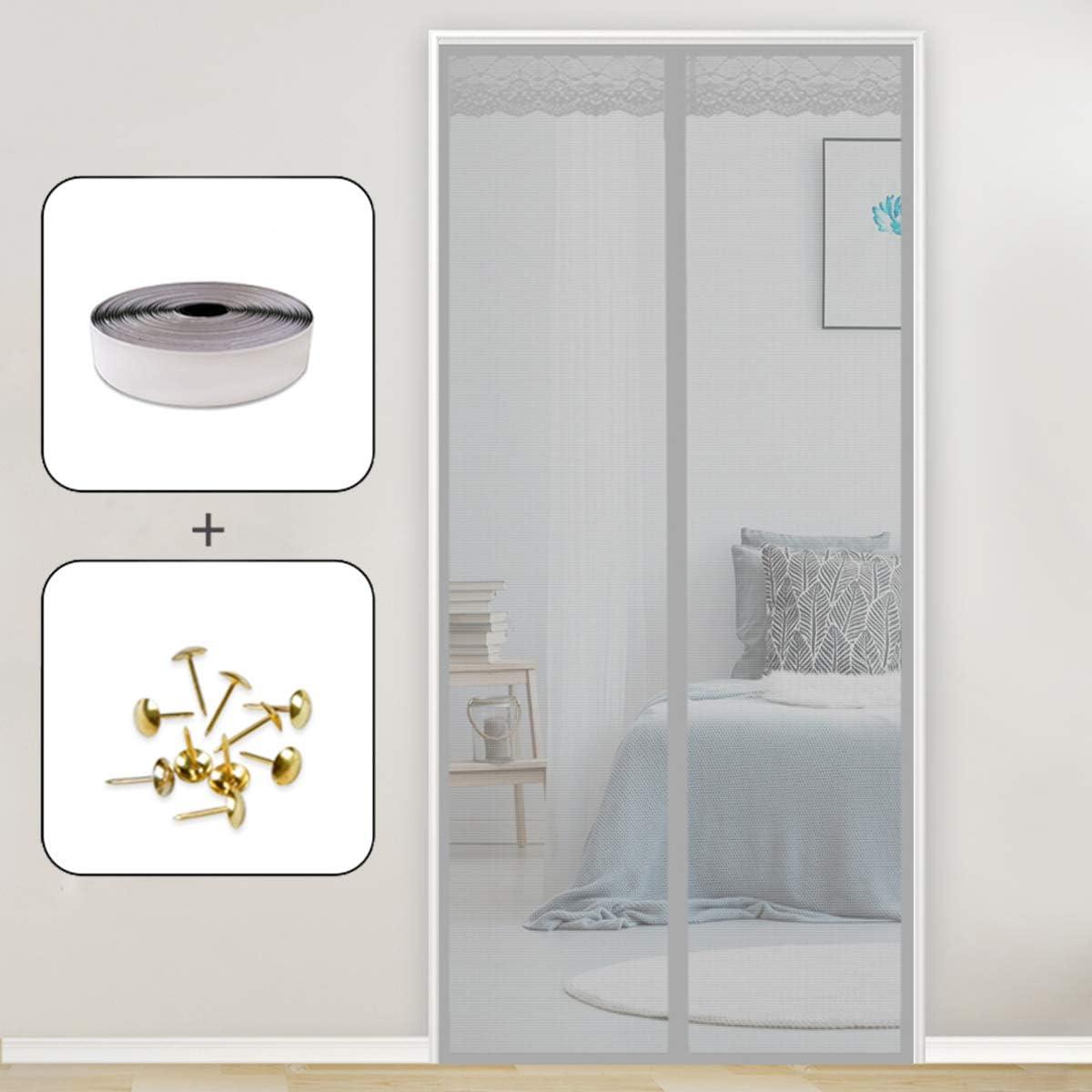 Mosquitera MagnéTica, 75x200cm Puertas mosquiteras Magnética Automático con Durable para Puertas Correderas/Balcones/Terraza, Gris: Amazon.es: Hogar