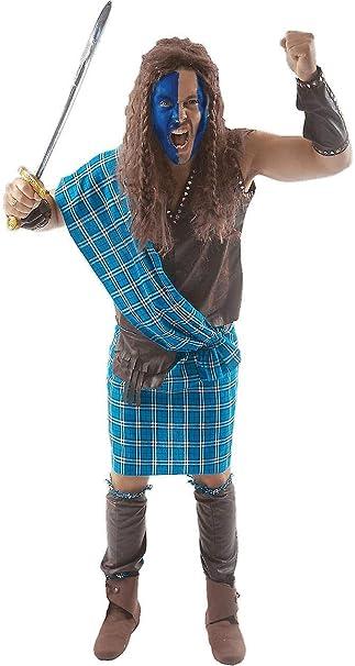 Amazon.com: Scottish Warrior - Disfraz de Braveheart ...
