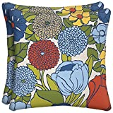 hampton bay outdoor pillow - Ruthie Floral Square Outdoor Throw Pillow (2-Pack)