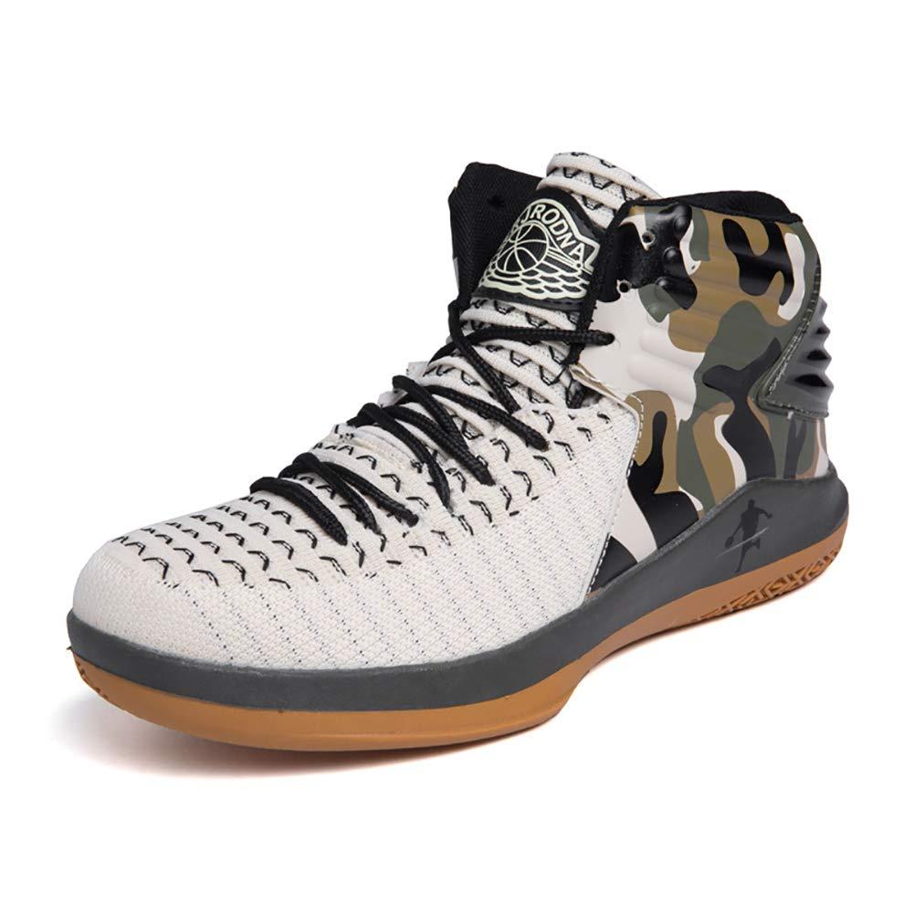 FHTD Chaussures de basket-ball pour hommes des Absorption des hommes chocs de performance Bottes de basket-ball Baskets montantes de luxe 37|White 45a908
