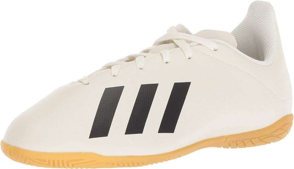 552ef750d adidas Unisex X Tango 18.4 Indoor Soccer Shoe, Off White/Black/Gold Metallic