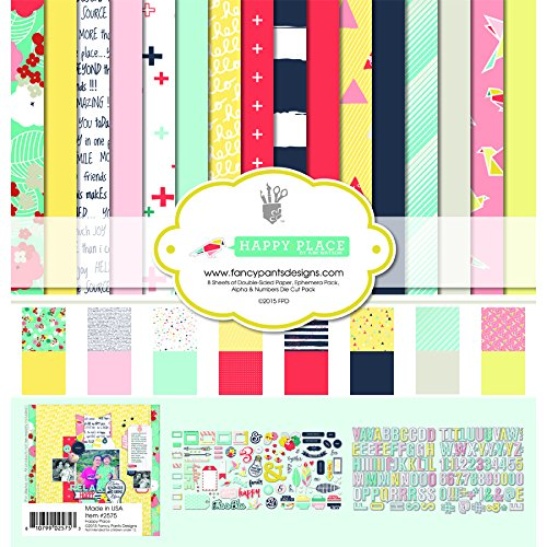 2575, Happy Place Collection Kit (Basic Grey 12x12 Paper)