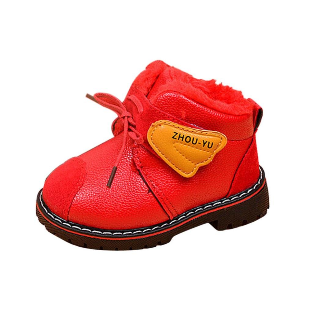 Taore Infant Todd Baby Girls Boys Warm Shoes Winter Snow Boots Leather Shoes