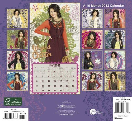 2012 wizards of waverly place wall calendar disney enterprises