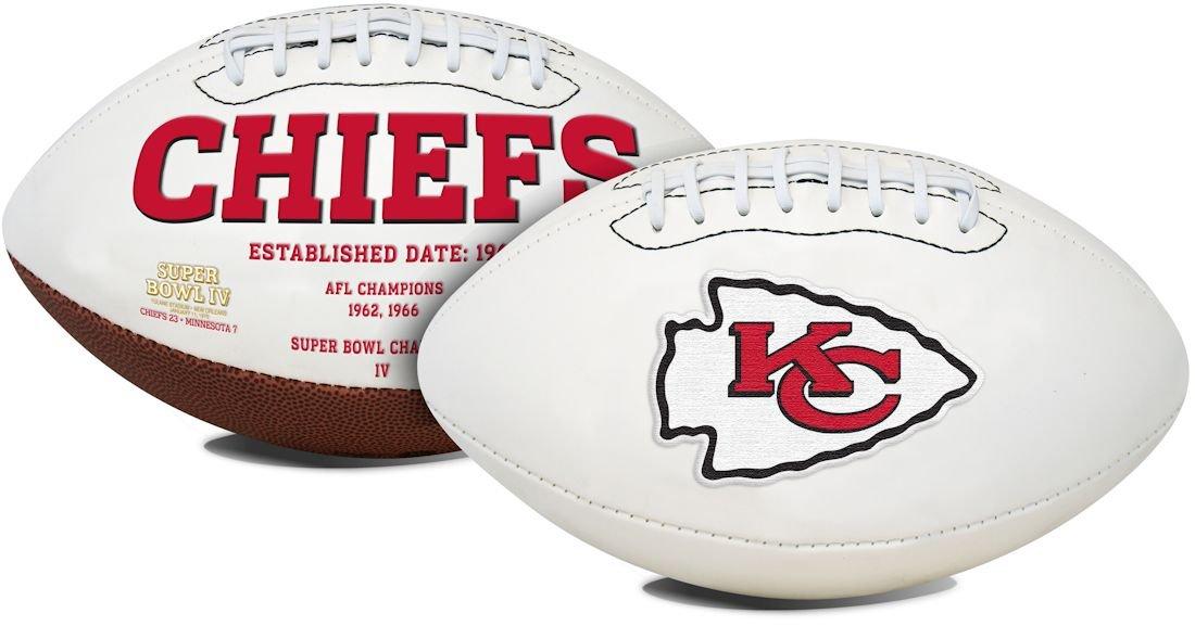 Jarden カンザスシティ チーフス フットボール フルサイズ 刺繍入りシグネチャーシリーズ