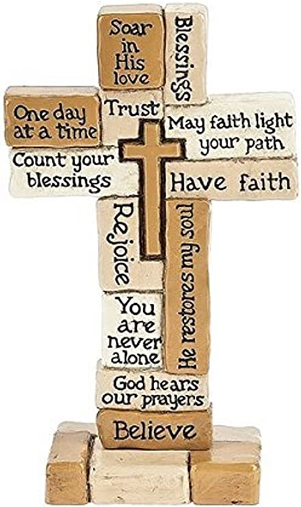 Standing Cross Inspirational Collage Staniding Cross 5-1//2 Tall