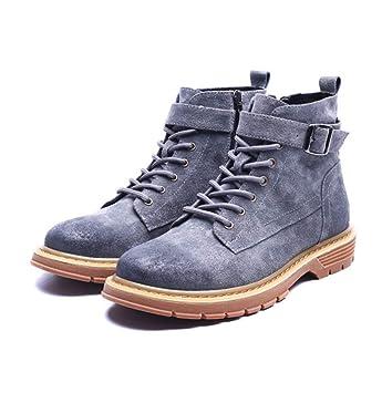 SHANGWU Botines Martin Boots para Hombre Zapatos Inglaterra ...