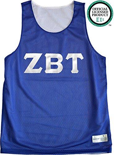 ZETA BETA TAU Unisex Mesh ZBT Tank Top. White Sewn Letters, Various Colors
