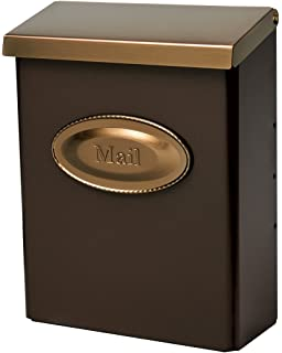 gibraltar designer locking medium capacity galvanized steel venetian bronze wallmount mailbox dmvkgv04