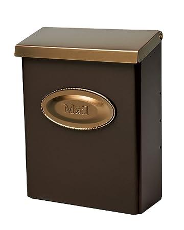 wall mount mailbox with hooks home depot black designer locking medium capacity galvanized steel venetian bronze flag