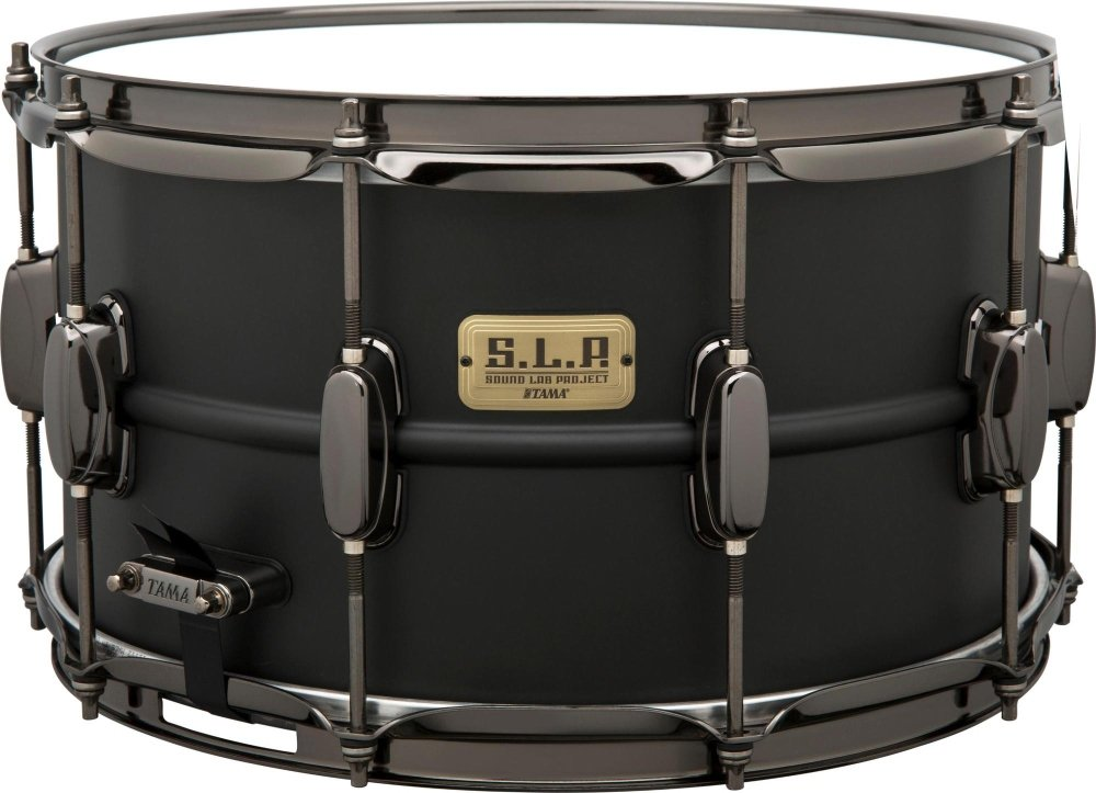 Tama S.L.P. Big Black Steel Snare Drum - 8 Inches X 14 Inches Limited Edition by Tama