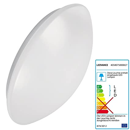 Lámpara Ledvance de superficie circular con luz LED, con sensor de movimiento y luz de