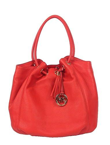 13f19cc6147601 Michael Kors Large Leather Ring Tote, Mandarin: Handbags: Amazon.com
