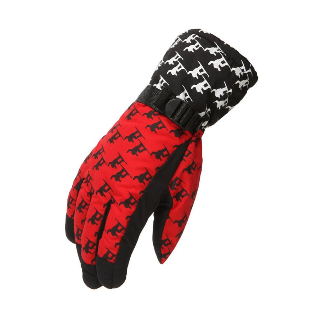 TONSEE Winter Warmest Waterproof and Breathable Snow Gloves for Adult