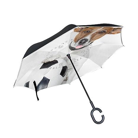 ALAZA perro blanco balón de fútbol puede paraguas paraguas ...