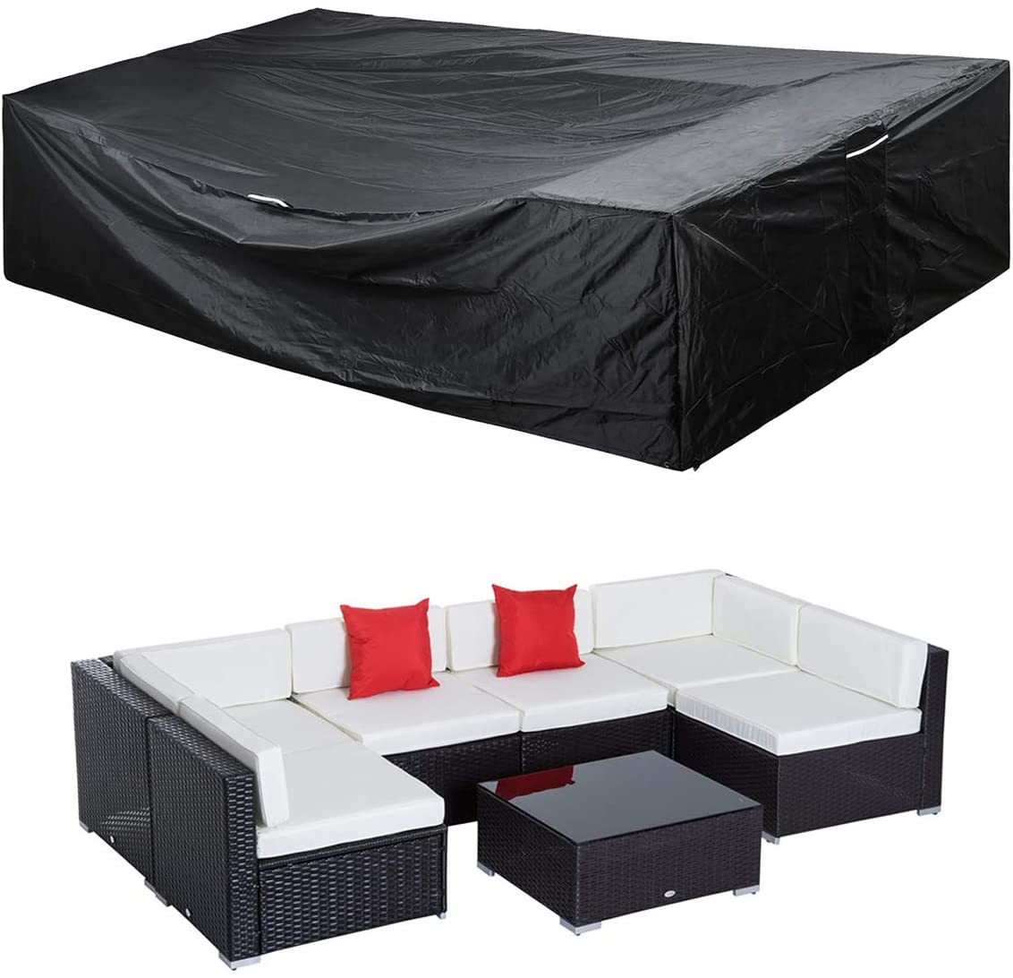 Patio Furniture Set Cover Outdoor Sectional Sofa Set Covers Waterproof Outdoor Dining Table Chair Set Cover Heavy Duty 90