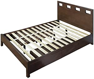 Modus Furniture RV26D6 Riva Platform Storage Bed California King Chocolate Brown