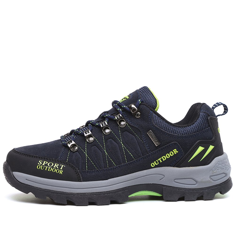 Rock Climbing Shoes Unisex Hiking Shoes Men Women Walking Sneaker Skid Proof Waterproof for Ourdoor Use-Blue-47 EU by Sherry Love (Image #2)