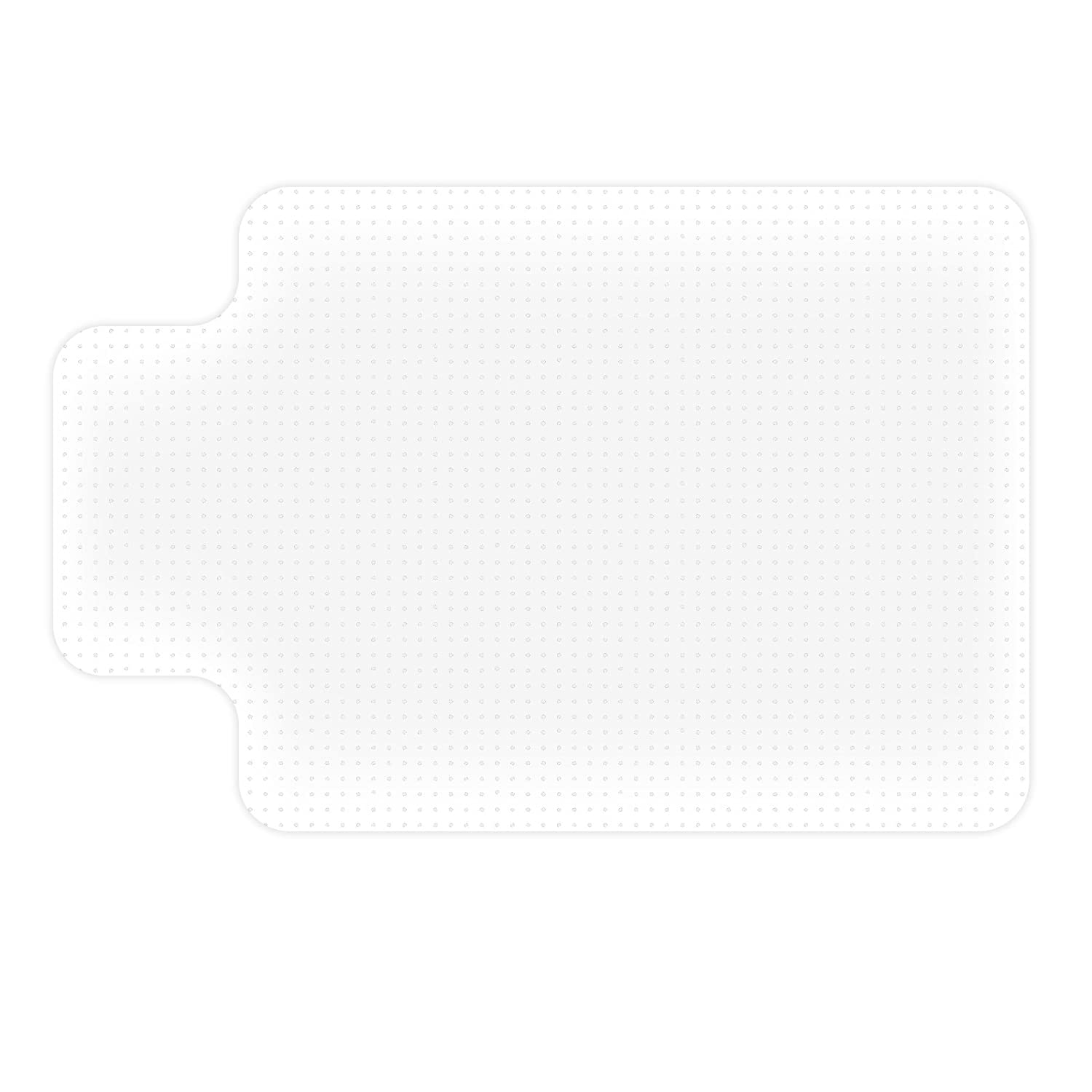 etm Polycarbonate Non Slip Clear Chair Mat for High Pile Carpets Studded Backing 4 Sizes 75x120cm