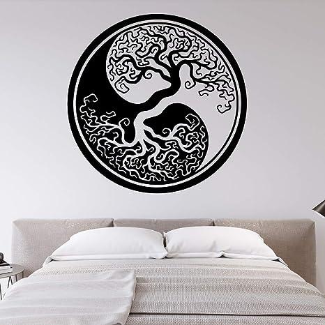 Modeganqingg Gran árbol de la Vida Yin y Yang Pegatinas de Pared ...