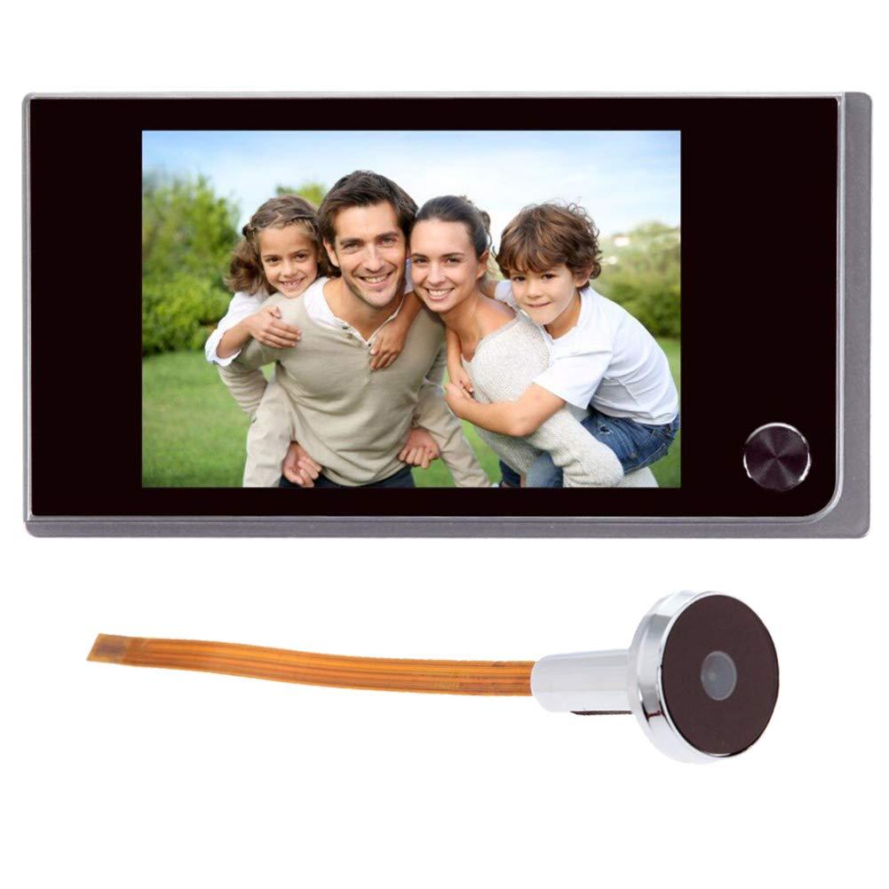 LCD 120 Grad Auge Farb-IR-Kamera T/ürspion mit 4 AAA-Batterien Digitaler T/ürklingel 8,9 cm nicht im Lieferumfang enthalten elektronische T/ürklingel 3,5 Zoll