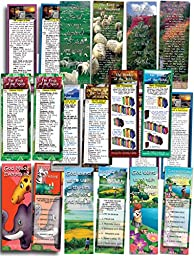 Bible Cards - Assorted Pack of 10 Bookmark Size Cards & Free Gospel DVD