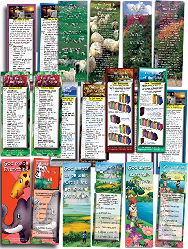 Assorted Pack of 100 Bible Cards - Complete Set in Three Sizes (Kids Easter Cards compare prices)