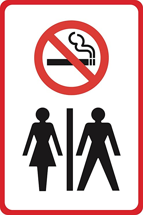Amazon Aluminum Metal No Smoking Symbol Female Male Bathroom