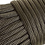 OxGord Paracord 550 Mil Spec Type III 7 Strand Parachute Commercial Grade Nylon Cord Spool for Camping Outdoor Hiking Wristband Bracelet Strong Strength Rope Tie Down Olive