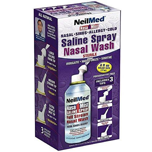 Neil Med Nasa Mist Multi Purpose Saline Spray All in One, 6.0 ounces (Pack of - Spray Nasal Strength Extra